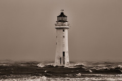 First day of summer (another_scotsman) Tags: lighthouse seascape stormy mersey newbrighton perchrock