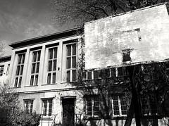 Decaying school and schoolyard. Krakow, Poland (sandklef) Tags: old school building beautiful basketball concrete basket decay poland krakow age schoolyard