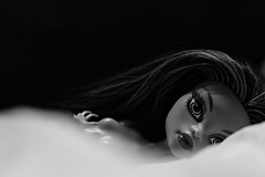 Perchance to dream (Allan Saw) Tags: blackandwhite toy doll highcontrast fantasy mh monsterhigh janeboolittle