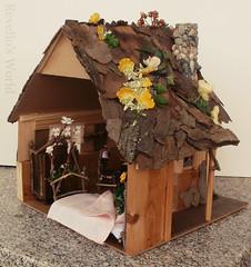 Fairy dollhouse (RD1630) Tags: wood house forest miniatures miniature handmade cottage haus mini fairy dollhouse fee miniatur handgemacht puppenhaus