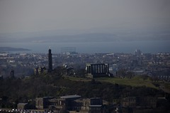 chfas (Tel_G) Tags: sea sky monument water grass canon buildings landscape edinburgh hill sigma sunny observatory forth national acropolis calton firthofforth nelsonsmonument athenian eosm dugaldstewartmonument 18250