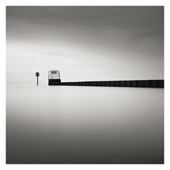 Stop (mike-mojopin) Tags: longexposure light sea blackandwhite bw seascape water kent gate minimal whitstable