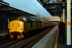 3Z11 Edwalton to derby rtc via old dalby seen at melton mowbray 37219 leading 37421 on the rear (Iain Wright Photography) Tags: old rear front via seen leading derby rtc melton dalby mowbray tailing 37219 edwalton 37421 saxelbye 3z11