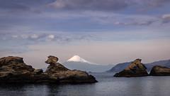 Memory Point (urbanweirdphoto) Tags: sea mountains japan landscape snowcapped volcanoes izu mtfuji