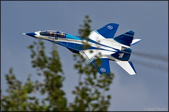 """MiG-29UB """"Channel One"""" (Pavel Vanka) Tags: plane airplane fly flying fighter colours russia moscow jet spot airshow planes spotting channelone mikoyan maks lii mig29 lowpass ramenskoe specialcolours zhukovskiy russianairforce mig29ub"""