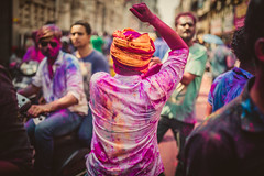 HOLI IN CHENNAI 6 (praveen.padmanabhan) Tags: pink blue red people india yellow festival kids eyes energy colours skin vibrant culture photojournalism documentary powder hues anatomy excitement chennai holi streetfestival vibrance photostory candidphotography incredibleindia royapettah sowcarpet picturemakers