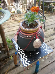 Lovely items (claudia.joseph16) Tags: africa shells art home ceramic interesting painted decoration stool decor nubian