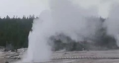 Beehive Geyser-Old Faithful Geyser dual eruption (6:46-6:51 PM, 24 April 2016) (James St. John) Tags: old yellowstone wyoming dual geyser eruptions beehive eruption faithful