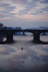 Boatman (Alice Consonni) Tags: bridge landscape photography boat photo florence dusk alice arno boatman outdoot consonni