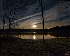 Ready to Work (Mitymous) Tags: longexposure moon night clouds moonrise moonlight tullylake reflecctions zeiss21 spring2016