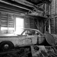 (.tom troutman.) Tags: abandoned 6x6 film car analog mediumformat blackwhite nj delta bronica 100 40mm ilford sqai