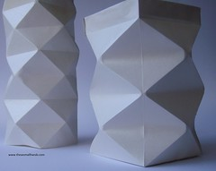 DSC01482 (thesesmallhands) Tags: sculpture paper paperart origami paperfolding vases
