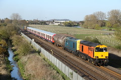 20314,20096 pass Branston (Ross Taylor pictures 2015) Tags: old uk blue england orange west london yellow harry needle gb april branston dalby 2016 ruislip undergroud class20 hnrc gbrf 7x09