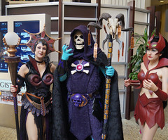 Evil-Lyn, Skeletor, & Catra (LegionCub) Tags: man costume dragon cosplay evil 80s masters he universe villain 1980s motu horde con dragoncon heman eternia havoc barbarian sorcerer dcon filmation soceress