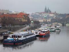 Riverboats (D-j-L) Tags: city water canon river boats prague czechrepublic cz vltava s100 riverboats hlavnmstopraha