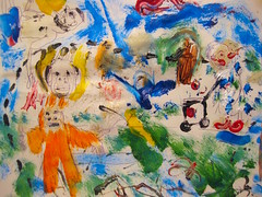 Little Foot (giveawayboy) Tags: old hairy orange house art lady pen painting tampa sketch pond furry paint artist acrylic little drawing flight dream floating folklore sidewalk elderly cart bigfoot yeti primate sasquatch urbanlegend fch giveawayboy cryptid billrogers littlebigfoot handreachingout