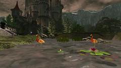 (Jojo Songlark) Tags: castle avatar flamingos sl waterlilies secondlife virtualworld secondlife:z=25 secondlife:y=65 secondlife:x=146 secondlife:region=georgetownwestcolorado secondlife:parcel=chaotika