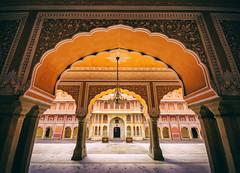 City Palace. (Prabhu B Doss) Tags: india architecture arch palace indoors chandelier jai jaipur rajasthan sigma1020mm travelphotography incredibleindia nikond80 prabhubdoss
