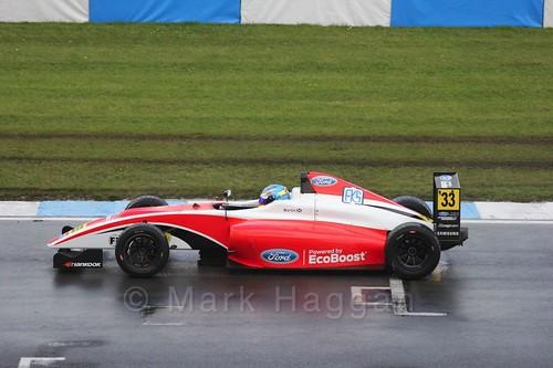 Ross Martin in British Formula Four during the BTCC Donington Weekend: 16th April 2016