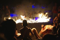 Fire (picturesfrommars) Tags: beach cambodia kambodscha sihanoukville nightlife a6000 sel35f18