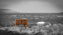 Bench with a View (MBDGE) Tags: sea beach orkney wind north gale atlantic evie swell broch westerly gurness rousay