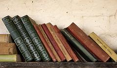 A bookshelf in the bothy (SteveJM2009) Tags: uk shakespeare books bookshelf dorset april spines dickens kipling stevemaskell bothy kingstonlacy 2016 gardenerscottage kitchengardens
