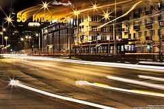 2/Cities (mateusz_marczak) Tags: road city cars station night outdoor tram poland location lodz pentaxks1