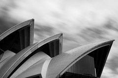 Moving Sails (Tom Beecroft) Tags: longexposure blackandwhite clouds sydney australia sydneyoperahouse bigstopper
