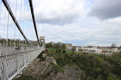 Bristol Suspension Bridge (Samantha Tyson) Tags: park bridge green water grass bristol boat ship suspension walk hill brandon harbourside