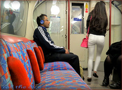 `1666 (roll the dice) Tags: uk travel portrait people urban music man blur reflection sexy london art classic tourism ass window glass girl sign canon dark underground asian lights glasses check funny pretty open sad carriage natural candid seat crowd transport tube strangers streetphotography rude passengers rush um unknown headphones trousers noentry hurry brunette wisdom mad adidas seen vocals unaware roundel londonist