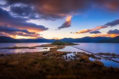 Agios Achilios on Mikri Prespa Lake (IzTheViz) Tags: lake sunrise greece macedonia prespa epirus prespes epire agiosachilios