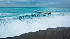 Mediterranean sea at Nice (French Riviera). (Chris, photographe de Nice (French Riviera)) Tags: sea mer france beach colors landscape marine mediterranean pentax 28mm wave plage ricoh ricohgr frenchriviera