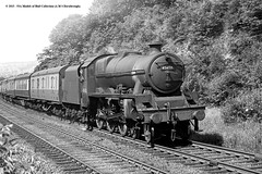 c.1954 - Hirst Wood, Saltaire, West Yorkshire. (53A Models) Tags: railroad train jubilee railway steam locomotive passenger saltaire westyorkshire keyes lms 460 britishrailways 45658 hirstwood 6p5f