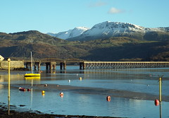 looked nice while it lasted (Defabled) Tags: bridge harbour barmouth