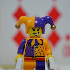 Joker (linda_lou2) Tags: macro cards lego diamond joker minifig minifigure odc 105mm thinksmall themeno19 115picturesin2015