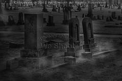 Dirt Nap (weeviltwin) Tags: blackandwhite mist monochrome grave graveyard stone yard bury buried spirit spirits gravestone spiritual inter dirtnap interred weshootcom