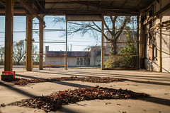 Baton Rouge (Antrell Williams) Tags: city sunset urban sun abandoned canon rouge louisiana downtown cityscape perspective sigma warehouse abandon lowered baton urbanscape