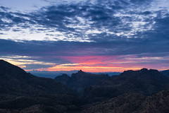 Dusk on Mt Lemmon (Kevin VanEmburgh Photography) Tags: travel camping arizona sky mountains nature beautiful clouds nikon desert tucson hiking adventure naturephotography mountainrange photoproject landscapephotography arizonamountains kevinvanemburghphotography nationalparkphotoproject saguora