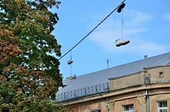 2015 09 24 174 Riga (Mark Baker, photoboxgallery.com/markbaker) Tags: city autumn urban photo shoes europe european baker outdoor mark union over eu cable baltic latvia september photograph states riga thrown rga 2015 picsmark