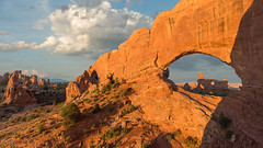 Two Arches & a Baby (ken.krach (kjkmep)) Tags: archesnationalpark turretarch thewindows