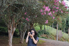The photographer (some_stuff) Tags: camera pink nature girl photographer
