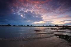 Sunrise at Maas river (M a u r i c e) Tags: sky water sunrise river wideangle maas efs1022mm grubbenvorst ultrawidezoom