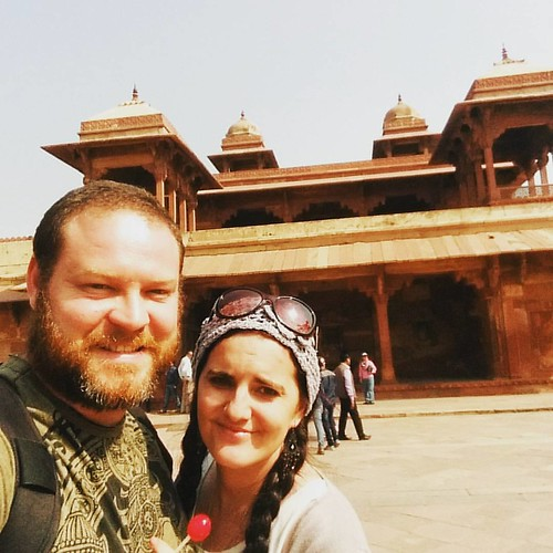 Lollipop #selfie in the palace. #indianadventure #fatehpursikri #sikri #coupletime