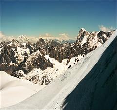 Alpine walk (Katarina 2353) Tags: winter mountain snow france film landscape nikon range chamonix montblanc katarinastefanovic katarina2353
