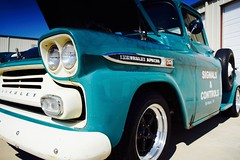 DSC09697 (laura_rivera) Tags: old macro classic chevrolet truck apache texas sony 28mm pickup wideangle carshow alvarado 28mm28 28mmf28 cruisein lensadapter miniwide wideanglemacro fotodiox laurarivera sigmaminiwideii thepaintshop sonya7