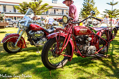 Two Red Indians (Malcom Lang) Tags: show new trees red people green classic grass hat bike metal shirt canon vintage buildings outdoors lights daylight stand big tank indian chief spokes wheels lawn mirrors machine motorcycles headlights rubber motors motorbike american springs seats frame blonde brakes 111 motor horn windshield disc forks 1928 fuel handlebars tyres earing crome footrest enjine canonef bigchief 2013 canonef2470mm canon6d canoneos6d mudgaurds malcomlang chiefclassic malcomlangphotos