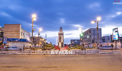 Sabah Al Ahmad Square l     (Ayman Abu Elhussin) Tags: africa street city wallpaper cloud building art history tourism public beautiful architecture night square photography lights town photo ray cityscape waterfront view shot outdoor album egypt bluesky arabic clean midtown portsaid arab gift kuwait longshutter   ayman   2016        nikon3200                  sabahalahmad  aymanabuelhussin pursaid   sabbahalahmed alameenst nassrst