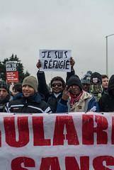 Je suis rfugie (gaia-) Tags: demonstration solidarity 23 janvier calais manif gennaio migrant rfugie
