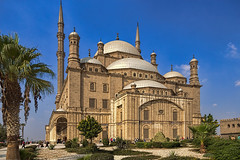 Mosque of Muhammad Ali, Cairo, Egypt (bfryxell) Tags: garden minaret egypt cairo palmtree alabastermosque mosqueofmuhammadali citadelofsaladin