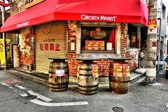 alley, Namba, Osaka (jtabn99) Tags: road street house japan shop restaurant chair alley nippon osaka namba       hdrartmode 20160204